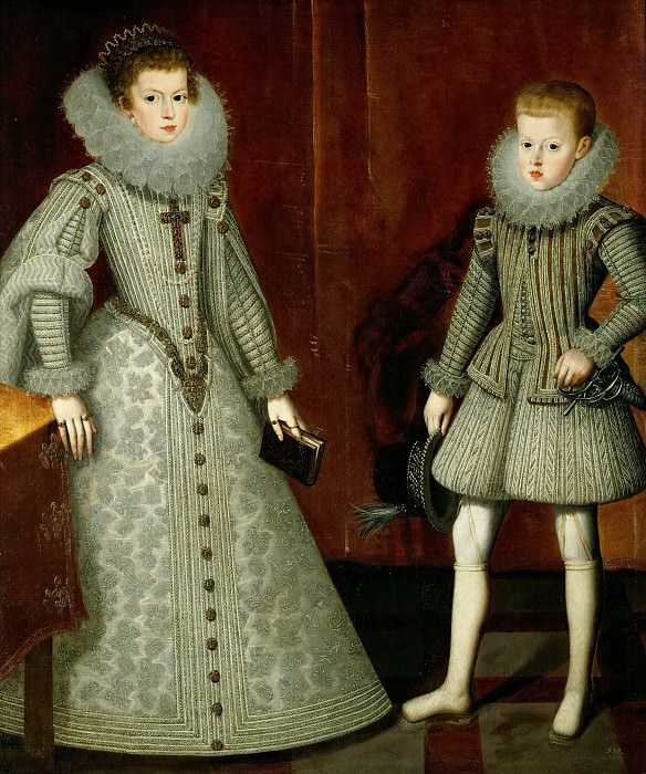 Gonzбlez, Bartolomй (1564-1627) -- The Infante Philip (later King Philip IV of Spain) and His Sister Anna of Austria (wife of Louis XIII and mother to Louis XIV of France). Kunsthistorisches Museum