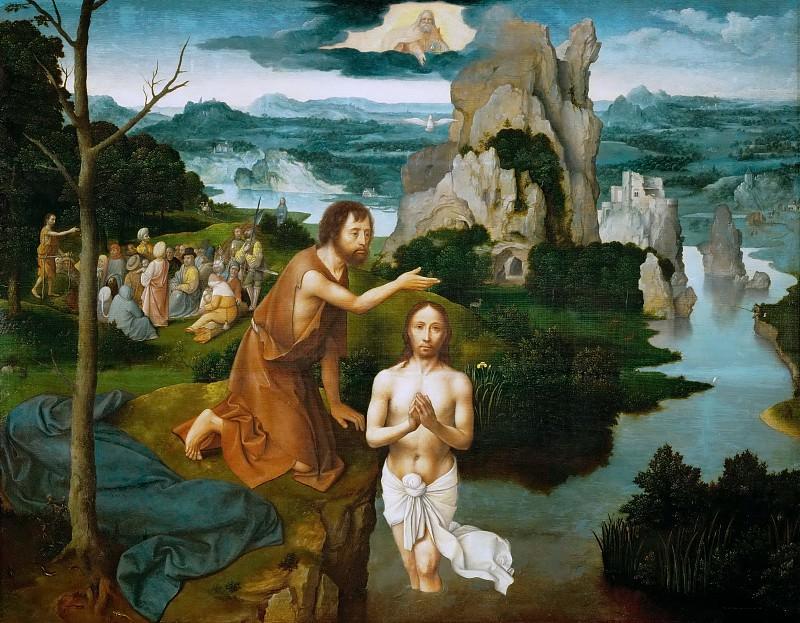 Joachim Patinir (c. 1480-before 1524) -- Baptism of Christ. Kunsthistorisches Museum