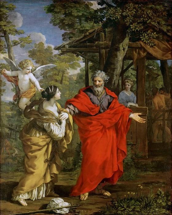Pietro da Cortona (1596-1669) -- Hagar's Return. Kunsthistorisches Museum