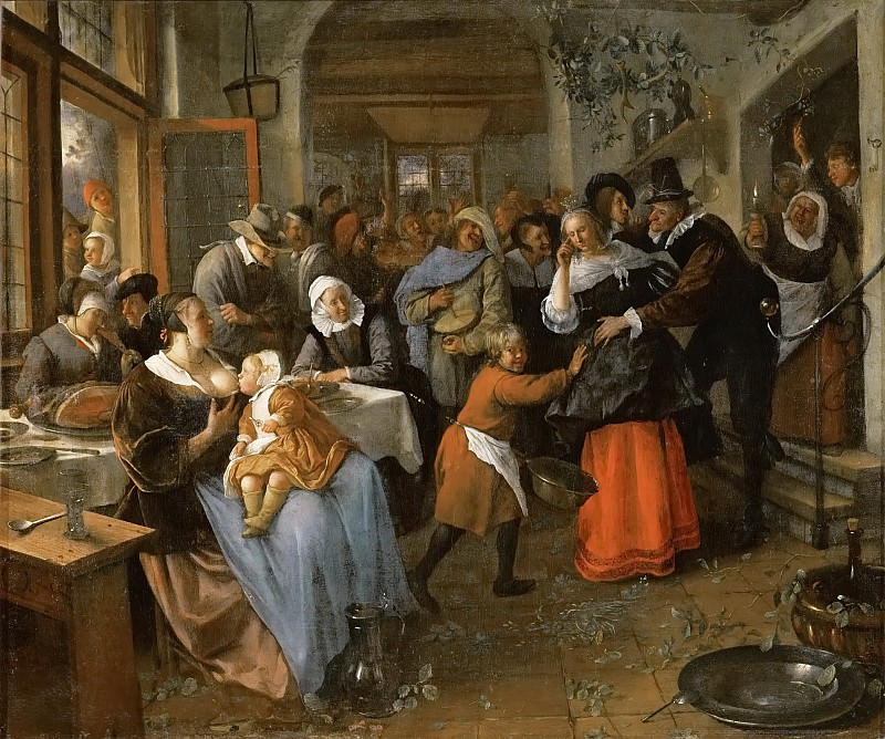 Jan Steen -- The Deceived Bridegroom. Kunsthistorisches Museum