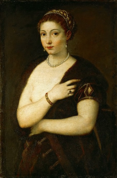 Young Woman with Fur. Titian (Tiziano Vecellio)