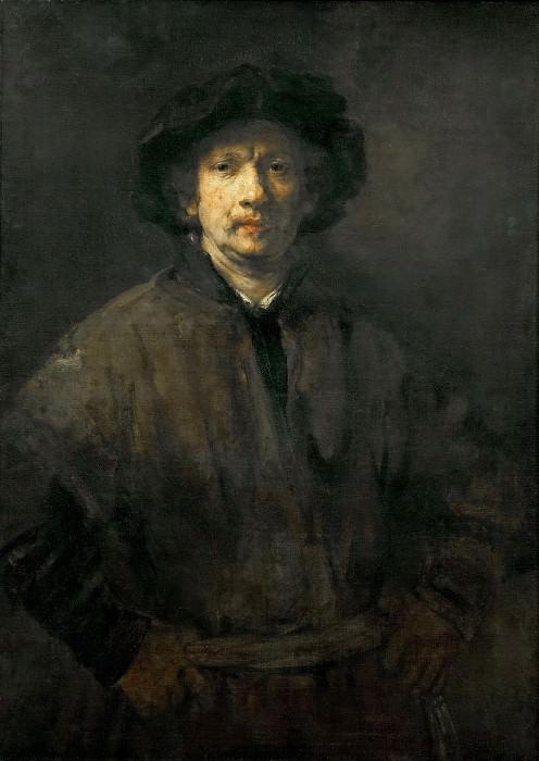 Rembrandt van Rijn -- Large Self Portrait. Kunsthistorisches Museum