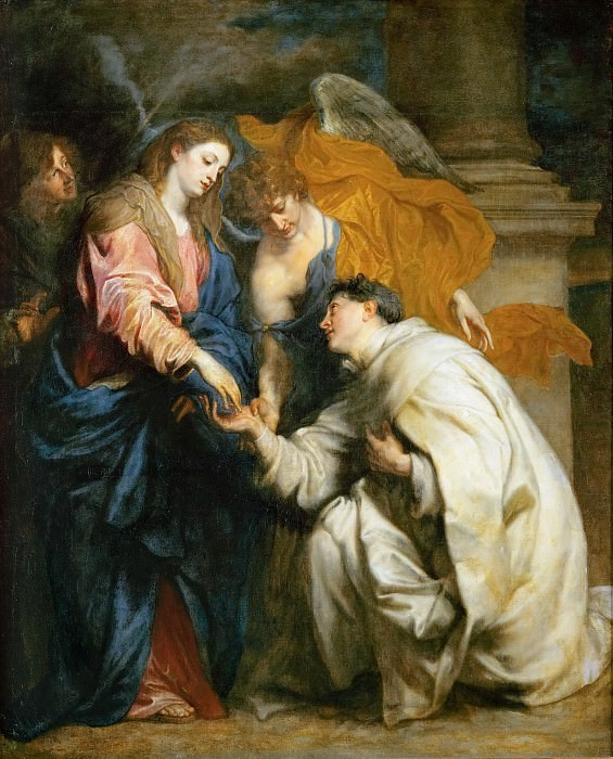 Anthony van Dyck -- Mystic Marriage of the Blessed Hermann Joseph (Engagement of the Beatified Hermann Joseph with the Virgin Mary). Kunsthistorisches Museum