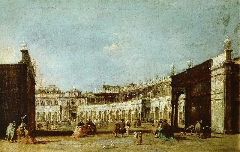 Francesco Guardi (1712-1793) -- Piazza San Marco, Venice. Kunsthistorisches Museum