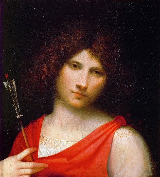 Giorgione -- The Boy with the Arrow. Kunsthistorisches Museum