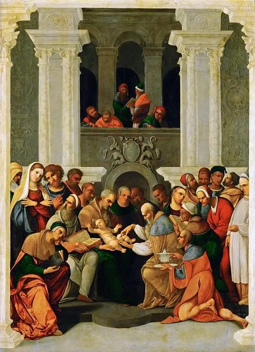 Lodovico Mazzolino -- Circumcision of Christ. Kunsthistorisches Museum
