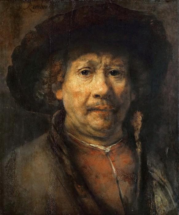 Рембрандт - Малый автопортрет. Музей истории искусств