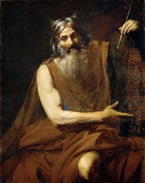 Valentin de Boulogne -- Moses. Kunsthistorisches Museum