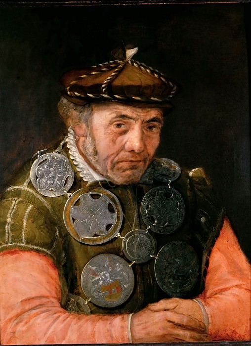Frans Floris the elder -- Messenger of the Rhetoricians Guild. Kunsthistorisches Museum