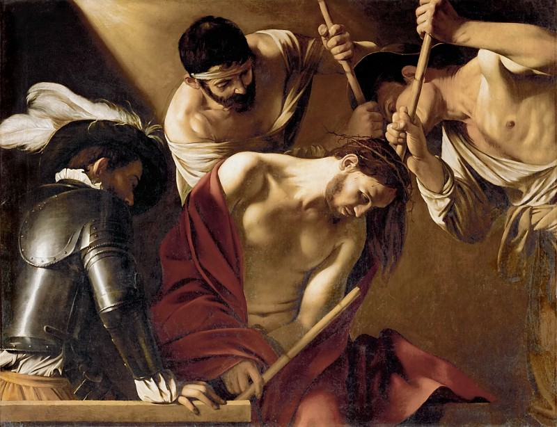 Michelangelo Merisi da Caravaggio (1571-1610) -- The Crowning with Thorns. Kunsthistorisches Museum
