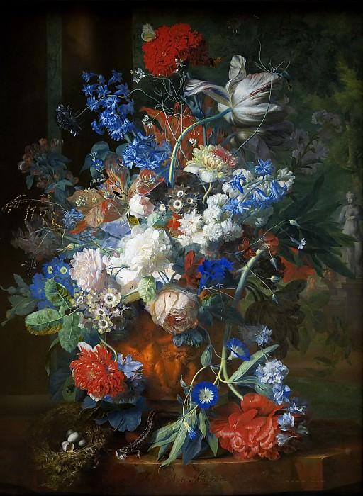 Ян ван Хейсум -- Букет цветов в парке. Музей истории искусств