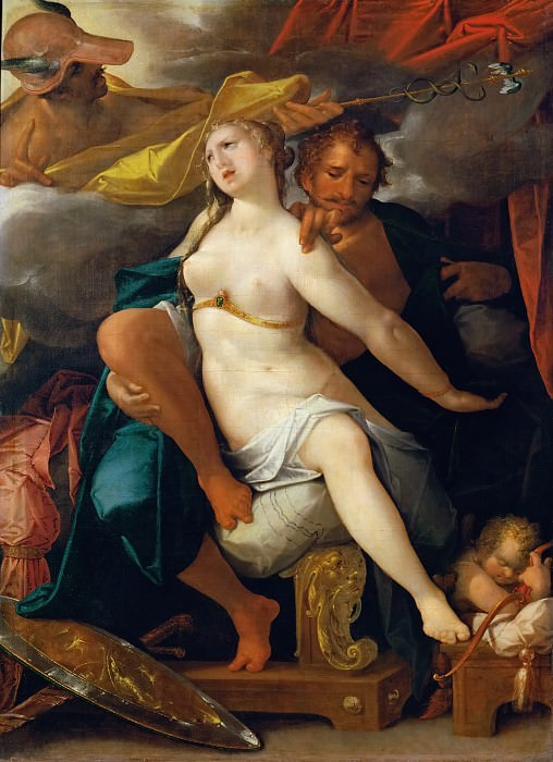 Bartholomaeus Spranger -- Venus and Mars warned by Mercury. Kunsthistorisches Museum