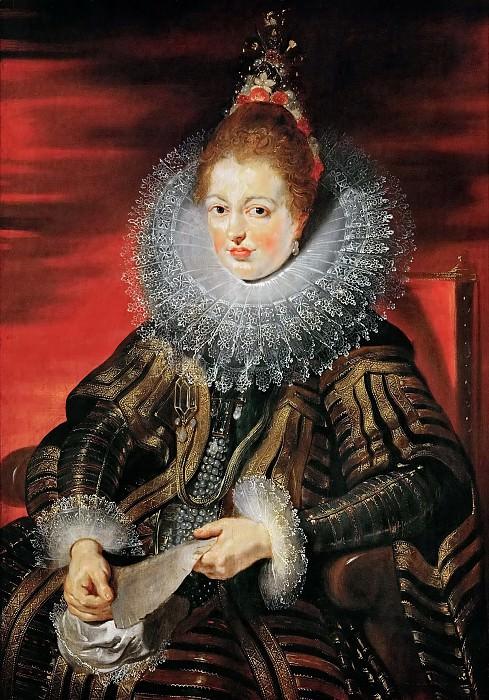 Peter Paul Rubens -- Infanta Isabella Clara Eugenia, wife of Archduke Albrecht VII. Kunsthistorisches Museum