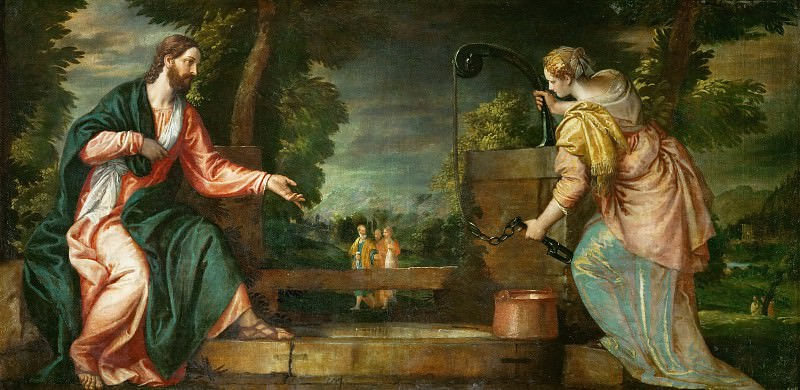 Paolo Veronese -- Christ and the Samaritan Woman at the Well. Kunsthistorisches Museum