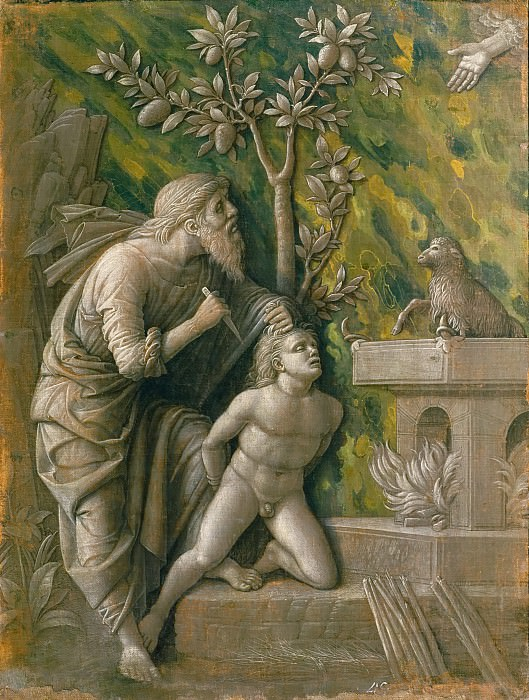 Andrea Mantegna -- Sacrifice of Isaac. Kunsthistorisches Museum