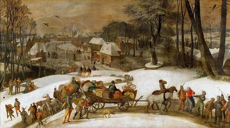 Gillis Mostaert -- Military expedition in winter. Kunsthistorisches Museum
