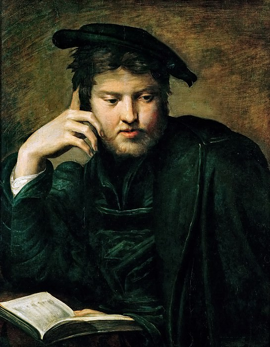Parmigianino -- Portrait of a Man with a Book. Kunsthistorisches Museum