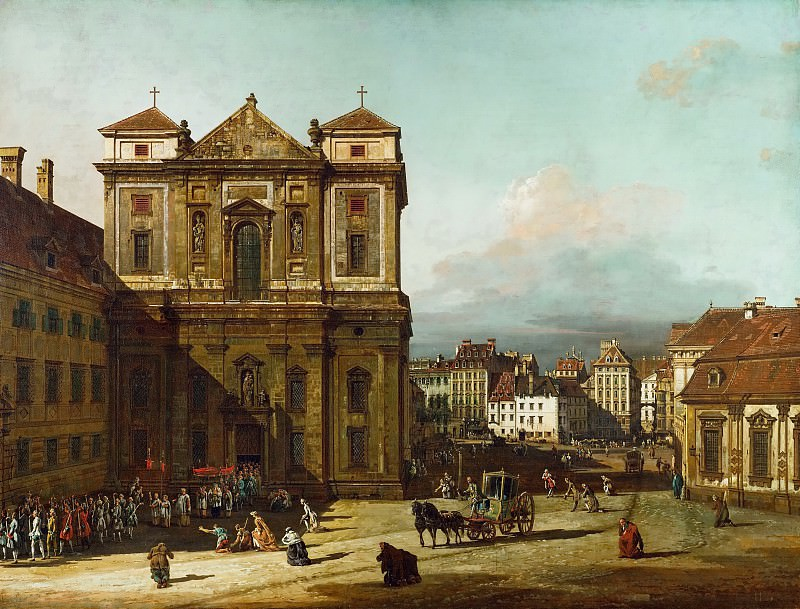 Bernardo Bellotto (1721-1780) -- The Freyung in Vienna, as Seen from the Northwest. Kunsthistorisches Museum