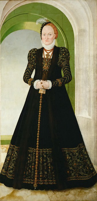 Lucas Cranach the younger -- Anna of Denmark. Kunsthistorisches Museum