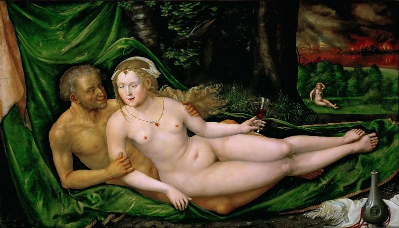 Albrecht Altdorfer -- Lot and his Daughter. Kunsthistorisches Museum