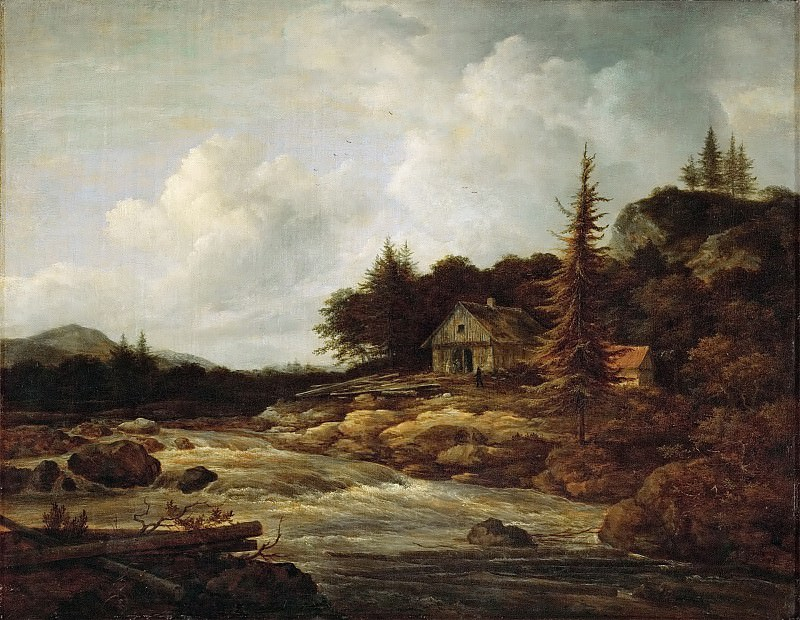 Jacob van Ruisdael (1628 or 1629-1682) -- Landscape with a Mountain River. Kunsthistorisches Museum