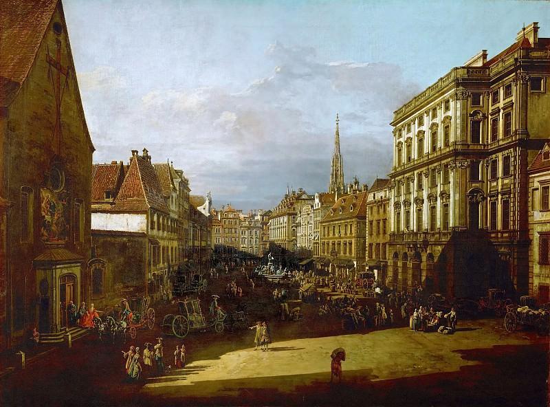 Bernardo Bellotto (1721-1780) -- Mehlmarkt in Vienna. Kunsthistorisches Museum