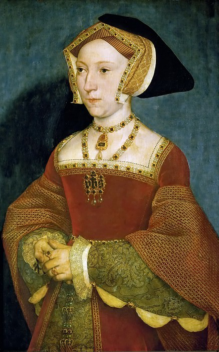 Hans Holbein the Younger (1497 or 1498-1543) -- Jane Seymour, third wife of King Henry VIII of England. Kunsthistorisches Museum