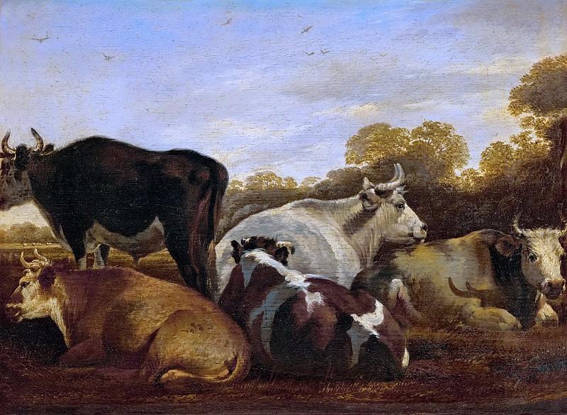 Cornelis Saftleven (1607-1681) -- Cows. Kunsthistorisches Museum