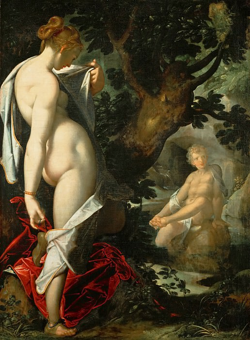 Bartholomaeus Spranger -- Hermaphroditus and the nymph Salamacis. Kunsthistorisches Museum
