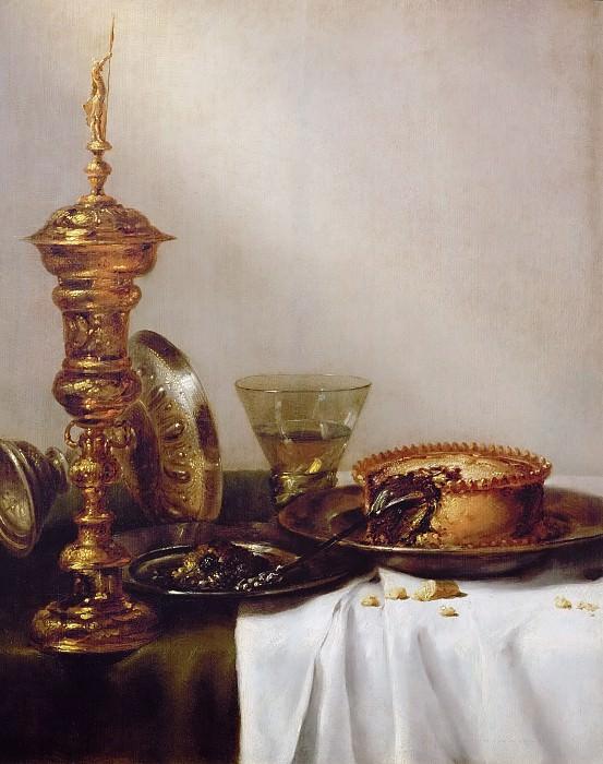 Willem Claesz. Heda (1594-1680) -- Breakfast Still Life with Chalice. Kunsthistorisches Museum