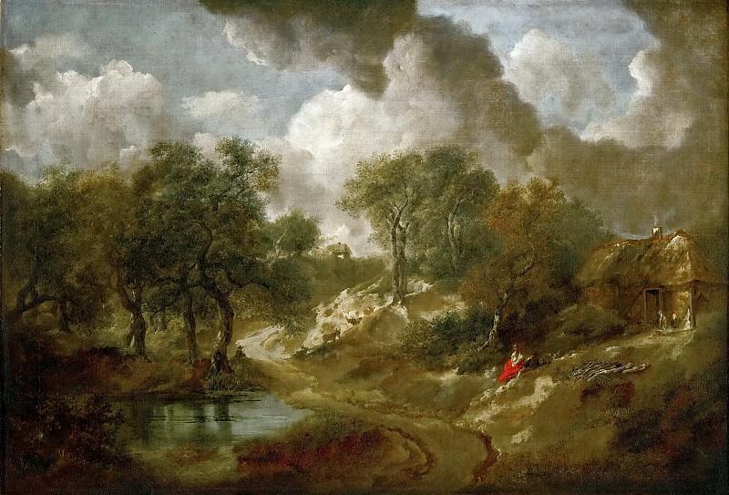Thomas Gainsborough -- Landscape in Suffolk. Kunsthistorisches Museum
