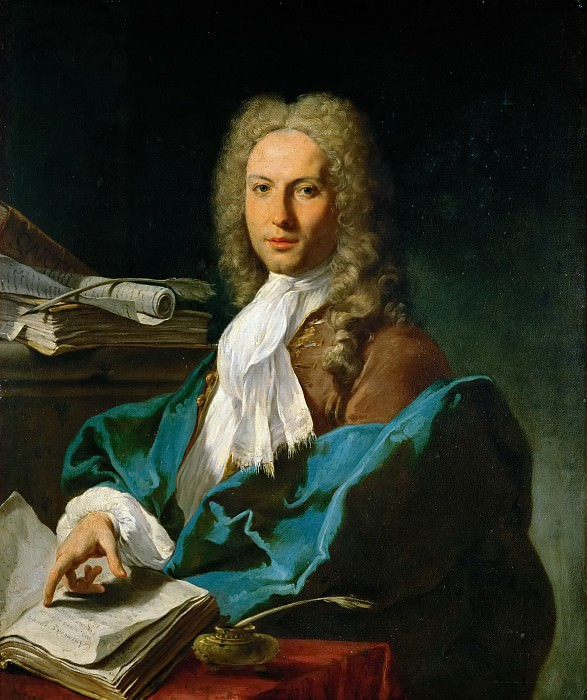 Giovanni Battista Pittoni the Younger (1687-1767) -- Portrait of a Mathematician, probably Pierre Joseph de Rivaz (1711-1772). Kunsthistorisches Museum