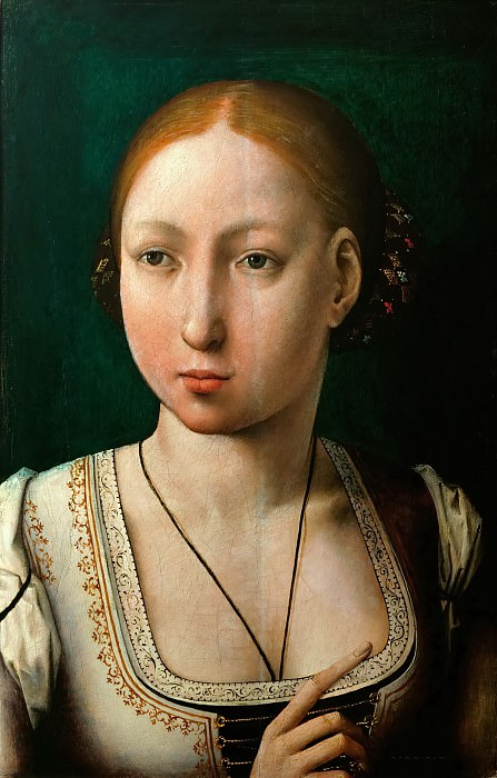 Juan de Flandes (c. 1465-1519) -- Juana La Loca (Juana the Mad). Kunsthistorisches Museum