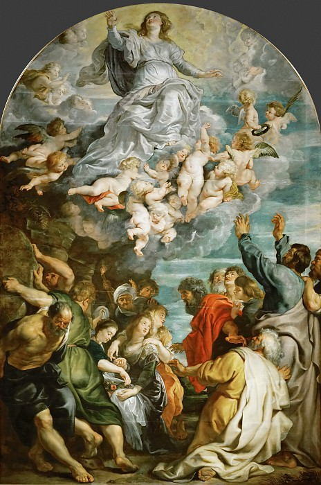 Peter Paul Rubens -- Assumption of Saint Mary. Kunsthistorisches Museum