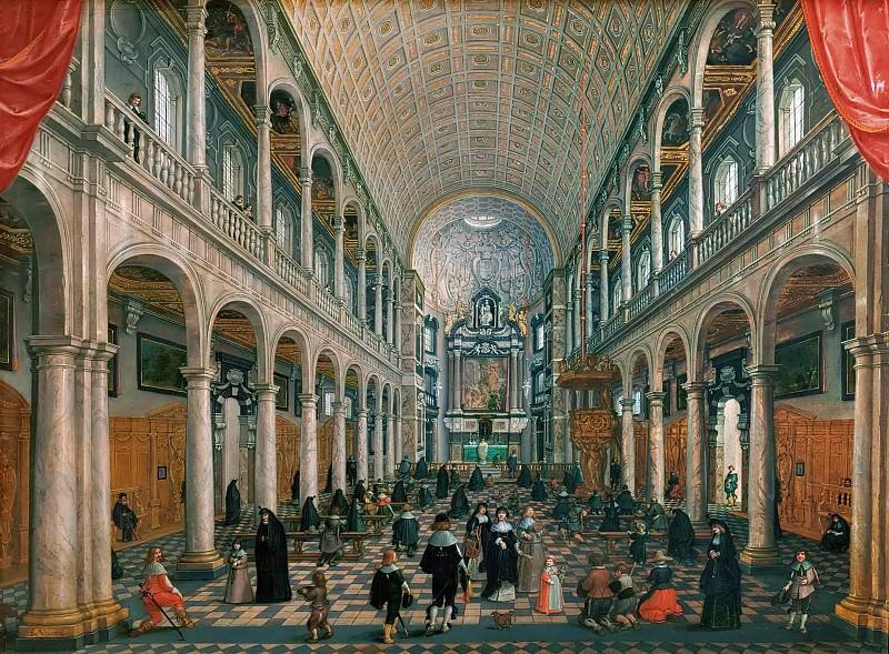 Sebastian Vrancx and Peeter Neeffs the elder -- Interior of the Jesuit Church in Antwerp, Belgium. Kunsthistorisches Museum