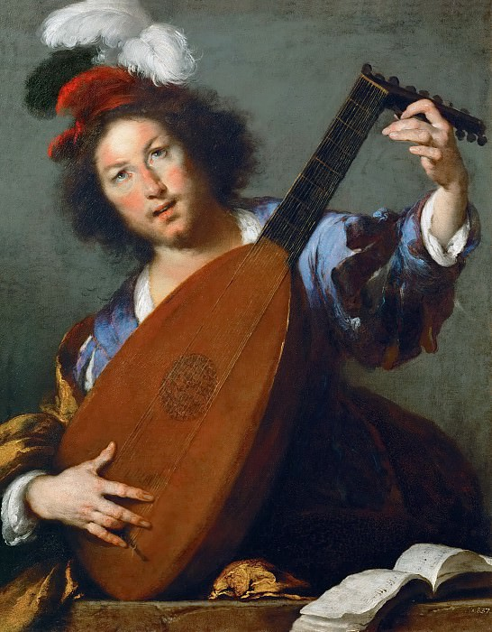 Bernardo Strozzi -- A Lute-player. Kunsthistorisches Museum