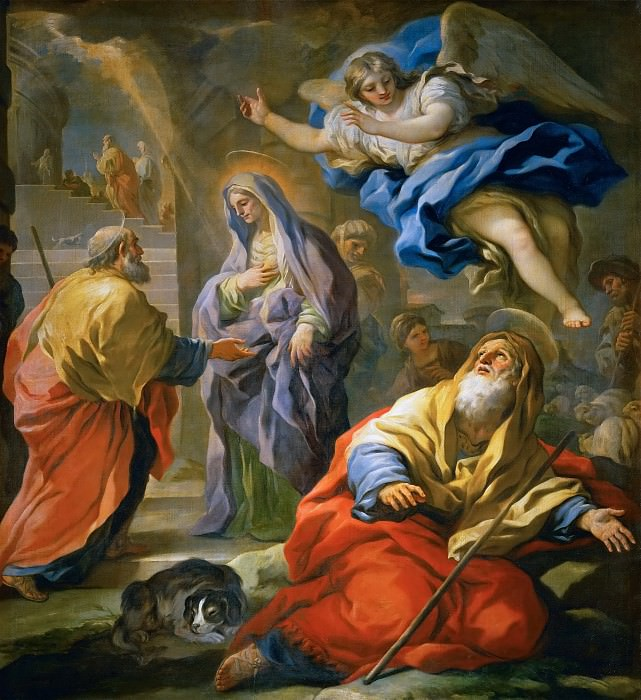 Luca Giordano -- Annunciation to Joachim and Meeting and the Golden Gate. Kunsthistorisches Museum