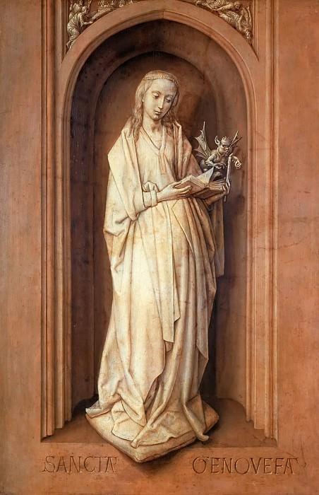 Hugo van der Goes -- Saint Genoveva. Kunsthistorisches Museum