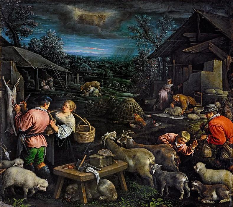Leandro Bassano (1557-1622) -- April. Kunsthistorisches Museum