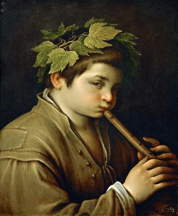 Francesco Bassano II (1549-1592) -- Boy with Flute. Kunsthistorisches Museum