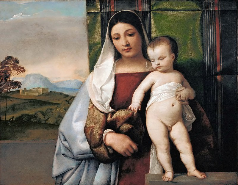Titian -- The Gypsy Madonna. Kunsthistorisches Museum