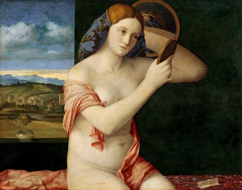 Govanni Bellini - Naked Young Woman in Front of the Mirror. Kunsthistorisches Museum