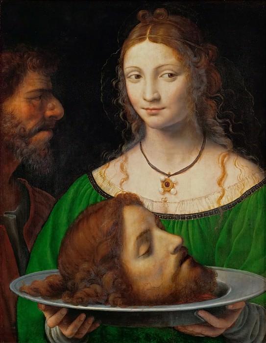 Bernardino Luini -- Salome with the head of Saint John the Baptist. Kunsthistorisches Museum