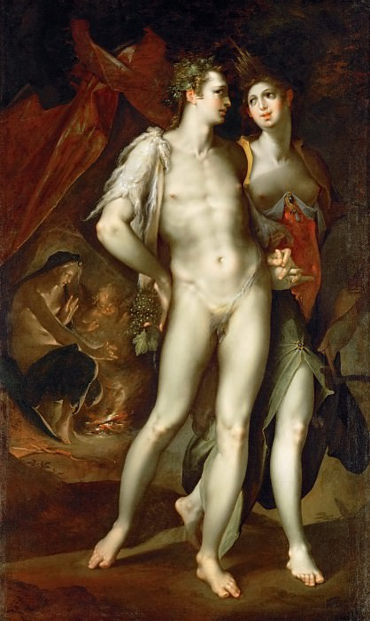 Bartholomaeus Spranger -- Love is Cold without Ceres and Bacchus (Sine Cerere et Baccho friget Venus). Kunsthistorisches Museum