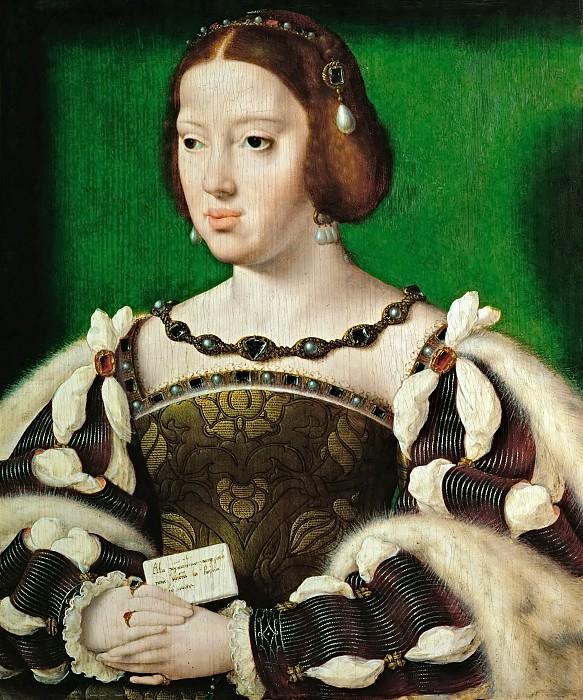 Йос ван Клеве - Портрет Элеоноры Австрийской, королевы Франции. Музей истории искусств