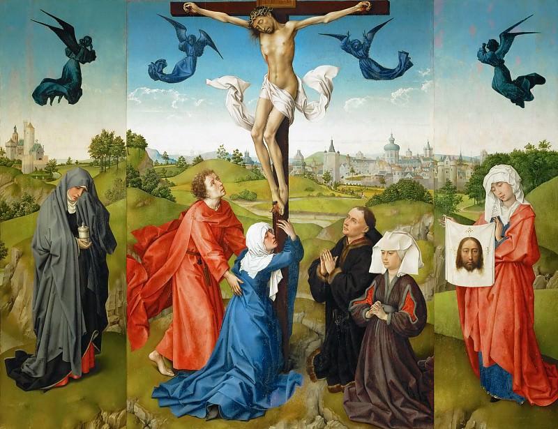 Rogier van der Weyden -- Triptych: The Crucifixion. Kunsthistorisches Museum