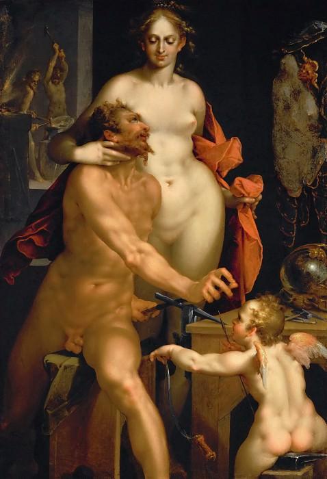 Bartholomaeus Spranger -- Venus in Vulcan's Forge. Kunsthistorisches Museum