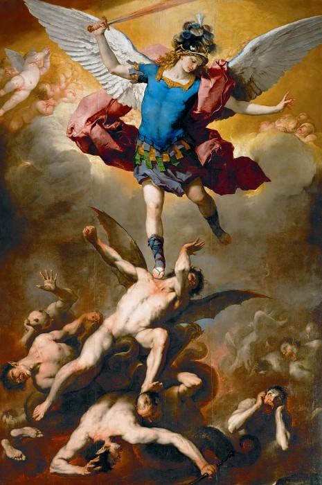 Luca Giordano -- Archangel Michael Hurls the Rebellious Angels into the Abyss. Kunsthistorisches Museum
