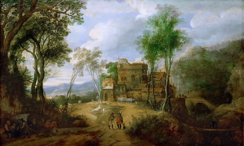 Peeter Snayers -- Mountain Landscape with Castle. Kunsthistorisches Museum