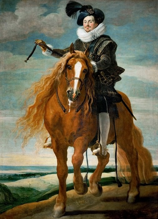 Gaspard de Crayer -- Equestrian Portrait of Don Diego Messia Felipe de Guzman, Marques de Leganes. Kunsthistorisches Museum